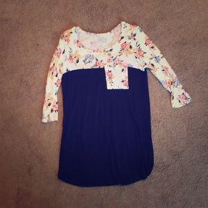 Floral Navy Tunic